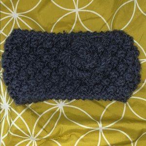 Knitted flower head wrap